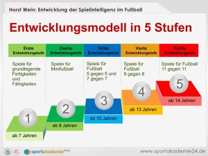 Fussball Entwicklungsmodell von Horst Wein in fünf Stufen www.deinfussballtrainer.de