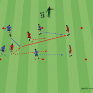 Pass-Sprint-Drills von Romeo Jozak (Dinamo Zagreb)